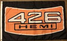 426 HEMI Flag 3x5 Dodge Banner Mopar Garage Man cave