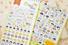 Today Sonia Cute Cartoon Stickers 2pc kids planner scrapbooking journal sticker