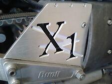 CNC ENGRAVED ALUMINIUM ENGINE PULLEY CASING BRUSHED FINISH BUELL X1 LIGHTNING