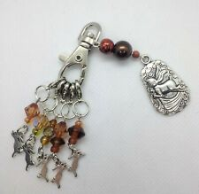 knitting stitch markers hares with beaded Hare keeper