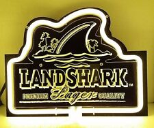 "Sb171 Landshark Lager beer bar pub store shop Display Neon Light Sign 10.5""x8"""