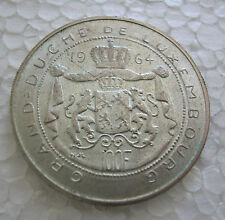 LUXEMBOURG 1964 100 FRANCS UNCIRCULATED Silver Coin KM# 54