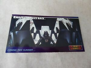 1995 STAR WARS TOPPS WIDEVISION EMPIRE STRIKES BACK PROMO CARDS #0 DARTH VADER!