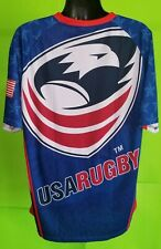 USA Rugby Jersey Red/White/Blue Shirt Men's Sz 2XL United States - NWOT