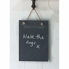 Garden Trading Slate Kitchen Garden Message Memo Don't Forget Board Wall Hanging