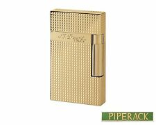 NEW S.T. Dupont Ligne 2 (Line 2) Lighter Gold  Diamond Head Luxury 016284 ST