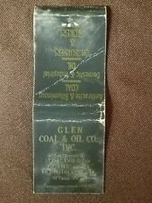 Matchcover Coal Burners and Stokes, Glen Coal & Oil Co. New Bedford Mass.