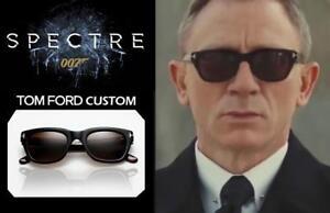 Tom Ford Snowdon TF0237 05B James Bond Spectre Black / Grey Grad Sunglasses 50mm