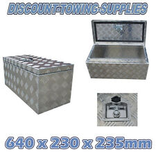 Truck Trailer Storage Aluminium Alloy Chequer Plate Tool Box 640 x 230 x 235mm