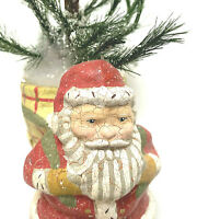 Midwest of Cannon Falls Folk Art Style Santa Carrying Sack Bag Christmas Tree