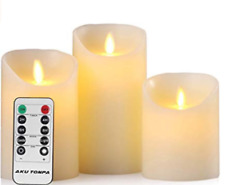 Flameless Candles Battery Operated Pillar Real Flickering Moving Wick Elect Led
