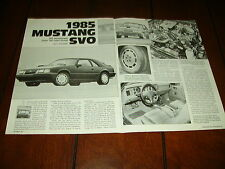 1985 FORD MUSTANG SVO ***ORIGINAL ARTICLE***