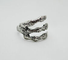 Antique Silver Goth Punk Claw/Talon Open Charm Ring