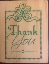Woodblock Rubber Stamp Thank You