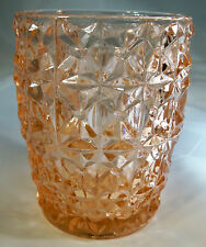 JEANNETTE GLASS CO. HOLIDAY BUTTONS & BOWS PINK 10-OUNCE FLAT WATER TUMBLER!