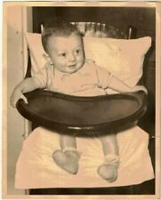 Wonderful Old Photograph Adorable Baby in High Chair