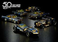 Hot Wheels 6 veicoli 50esimo Anniversario Black & Gold - Mattel Frn33