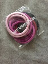 Mary Kate & Ashley Pink Purple Elastic Hair Bands - 10 Pack