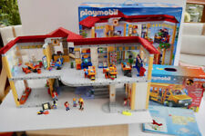 PLAYMOBIL LARGE FURNISHED SCHOOL PLAYSET 4324 AND NEW CITY LIFE SCHOOL BUS 5680