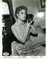 Greer Garson Psa Dna Coa Hand Signed 8x10 Vintage Photo Autograph