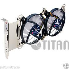 TITAN VGA Gehäuse Slotblech 2 x 95mm Lüfter Blende Grafikkarte Kühler TTC-SC07TZ