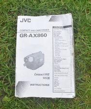 JVC GR-AX860 Videocamera VHS Manuale Manuale utente (solo)