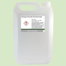 Peróxido de hidrógeno 3% de grado alimenticio BP H2O2 5L