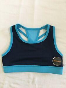 NEW Avia Girls Active Wear Sports Bra Blue Black Girls XS,S,M,L,XL,XXL