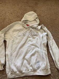 Oakland Raiders Las Vegas NFL Football Hoodie Hooded Sweatshirt White Large