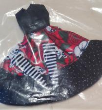 Pullip Doll / Puppe- Kleid im Totenkopf - Style ohne Ärmel - lang, rot/Schwarz