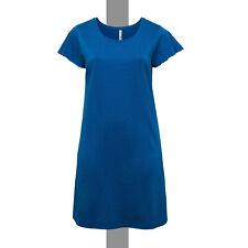 lufgites Sommer Basic Kleid Gr.46/48 Jerseykleid Shirtkleid Cotton royal blau