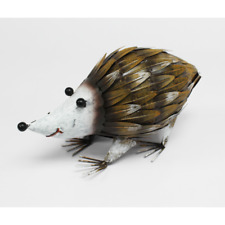 Metal Garden Hedgehog Ornament - Colourful Animal Hedgehog Sculpture - 20cm High