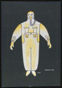 Alexander Rodchenko : Costume design for Bedbug : Archival Quality Art Print