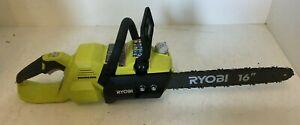 "Ryobi RY40503 40V ELECTRIC 14"" Inch  BRUSHLESS CHAIN SAW CHAINSAW GR M"