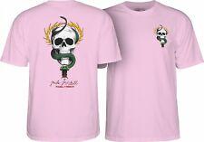 Powell Peralta Mike McGill Skull And Snake Skateboard T Shirt Light Pink Medium