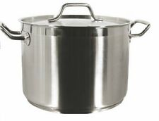 Stock Pot W/ Lid 18/8 Stain. Steel Multiple Sizes 8 qt To100 qt (12 qt)Tslsps012