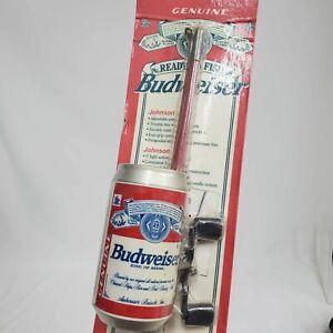 Vintage Johnson Budweiser Can 5' Fishing Rod Pole Reel Combo 1995 Bud Sealed