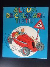Album Cahier à colorier Tintin 3e série réed 1971  Ed Italienne Gandus TBE