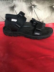timberland Mens Sensorflex Sandals Black Size 10.5 Uk