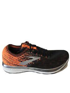Brooks Ricochet Black Orange Silver Men Running Training Shoes Sneaker Size 11.5