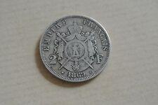 2 FRANCS NAPOLEON III LAURÉE 1869 A TTB CÔTE 80 EUROS