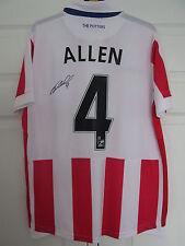 """Signé """"Joe Allen-Stoke City"""" 2016-17 Accueil Shirt (preuve & COA)"""