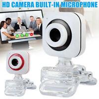 Portable USB 2.0 HD Webcam Web Camera Cam Microphone For PC Laptop Desktop New