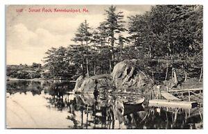 Sunset Rock, Kennebunkport, Maine Postcard *339