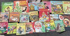 Huge Mixed Vintage Children's Books  (A Little Golden Books ) Etc Lot of 75