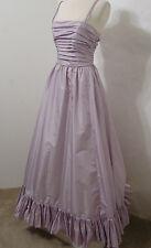 VICTOR COSTA Vintage Lavender Rhinestone Ruffle Ruched Crinoline Gown 8 Rare