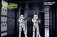 Star Wars Black Series Death Star Hallway #2- 11X17 Diorama Backdrop (No Figure)