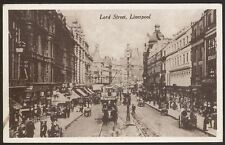 Merseyside. Liverpool. Lord Street, Liverpool. Busy Shopping - Vintage Postcard