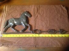 Antique Horse Decorated Weathervane with bullet holes