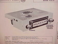 1954 FORD COURIER CUSTOMLINE CRESTLINE CONVERTIBLE AM RADIO SERVICE MANUAL 54 3